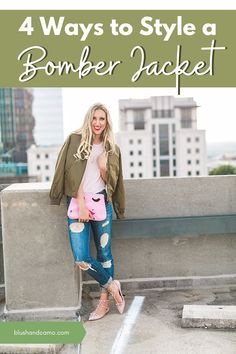 The bomber jacket is a classic wardrobe item that's having a major moment this season! Not only will I give you my top four tips on styling your bomber jacket, but I'll help you find the perfect one for you! This jacket will give your look the structure and trendiness every fashionista is looking for! #bomberjacket #fashionista #majormoment #bomberjacketstyle