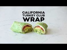 California Turkey Club Wrap with turkey, bacon, avocado, tomato and lettuce. A healthy and delicious balanced lunch! Sandwiches just taste better in a wrap! Paleo Lunch Box, Lunch Meal Prep, Healthy Meal Prep, Easy Healthy Recipes, Healthy Snacks, Healthy Eating, Wrap Recipes, Side Dish Recipes, Lunch Recipes