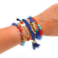 3edd796d4942 Pulsera Ancla Azul Roja. Compra tus accesorios desde la comodidad de tu  casa u oficina