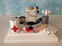 Polymer clay business card holderpharmacist by NaomisSweetStuff: Polymer Clay Pens, Sculpey Clay, Polymer Clay Projects, Polymer Clay Creations, Business Card Holders, Business Cards, Biscuit, Christian Crafts, Play Clay