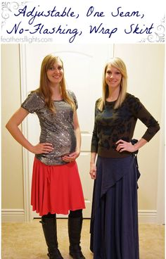 """Feather's Flights: A Sewing Blog: Tutorial: Adjustable One-Seam """"No-Flashing"""" Wrap Skirt"""