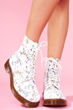 I want them.  Print 8 Eye Boot- Wild Rose  $128  http://www.nastygal.com/shoes/print%2D8%2Deye%2Dboot%2Dwild%2Drose
