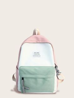 To find out about the Color Block Slogan Patch Decor Backpack at SHEIN, part of our latest Backpack ready to shop online today! Stylish School Bags, Cute School Bags, Tote Bags, Backpack Bags, Clutch Bags, Fashion Bags, Fashion Backpack, Mochila Kanken, Bags For Teens