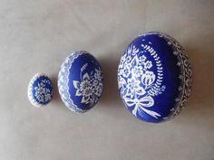 Tri veľkonočné vajíčka: Kačka, pštors, emu. Veľkonočné dekorácie, veľká noc, kraslice. Autorka: vltavanka. Artmama.sk