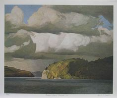 A J Casson . October Storm Clouds, 1974