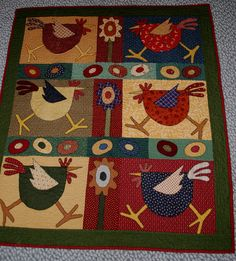 Chicken Quilt my mom and I  made :)