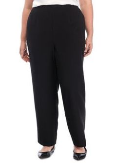 Alfred Dunner Women's Plus Size High Roller Short Pants - Onyx - 20Wp