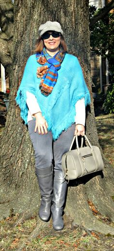 Poncho Power, Over 40 Fashion Blogger