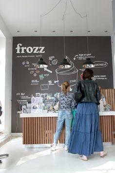 creative chalkboard menu from Frozz, Amsterdam