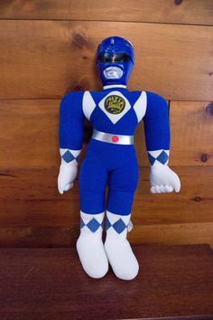 """1993 Saban Blue Ranger Billy Mighty Morphin' Power Rangers 20"""" Plush w/ Plastic Head by JenuineCollection on Etsy"""