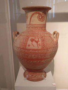 Ánfora beocia (675-650 a. C.). Atenas. Museo Arqueológico Nacional