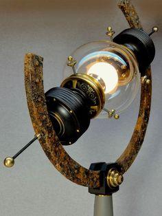 """Arc Light"" Steampunk Lamp - Steampunk Lighting Master, Art Donovan"