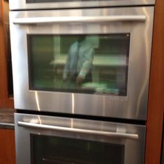 Double oven! Top switches back and forth from convection to conventional. Perfect for recipe development and testing!