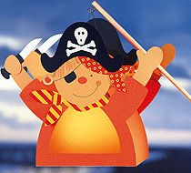 Laternen basteln Pirat