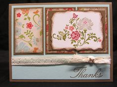 Card I Made at Stampin Up Group in Feb.