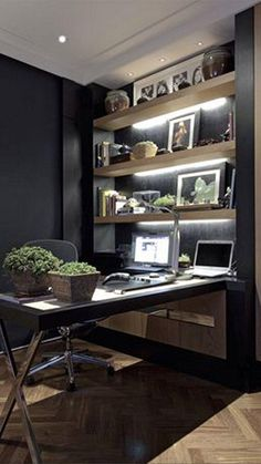 Home Office Desks, Home Office Furniture, Office Decor, Office Ideas, Desk Ideas, Men Office, Furniture Ideas, Office Stool, Furniture Buyers