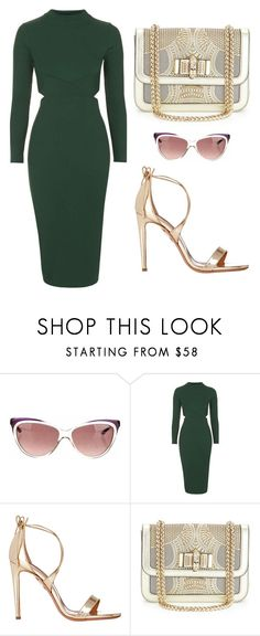 """Outfit Idea by Polyvore Remix"" by polyvore-remix ❤ liked on Polyvore featuring Yves Saint Laurent, Topshop, Aquazzura and Christian Louboutin"