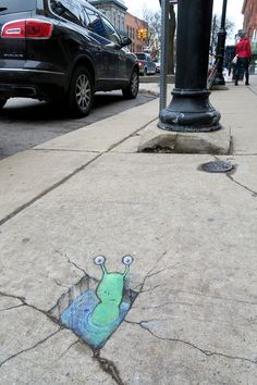 One man's ditch is another man's spa. (December 1, 2014) - street art by David Zinn