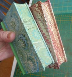 My Handbound Books - Bookbinding Blog: Unfinished Project #4 (Marbled Fore-edges)