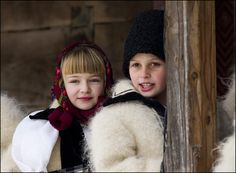 Romanian traditional folk costume, Maramures Eve Children, Folk Costume, Costumes, Romanian Girls, Republic Of Macedonia, City People, Human Kindness, Winter Kids, Bucharest