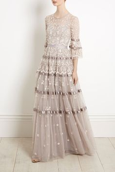 Boho Bridal Gown Needle and Thread NEW Roses Gown from Bridal. Available with next day delivery and free UK returns. Bridal Skirts, Bridal Gowns, Evening Dresses, Prom Dresses, Wedding Dresses, Beautiful Gowns, Beautiful Outfits, Needle And Thread Dresses, Designer Gowns