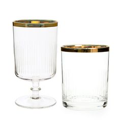 Gold Edged Tumbler and Goblet | ZARA HOME United States of America