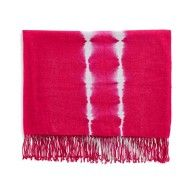 Kevin O'Brien Studio - Shibori Cashmere Throw in Fuchsia