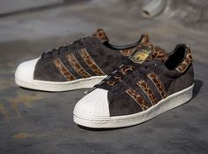"XLARGE x adidas Originals Superstar 80s ""Giraffe""   Pre Order @ Packer Shoes"
