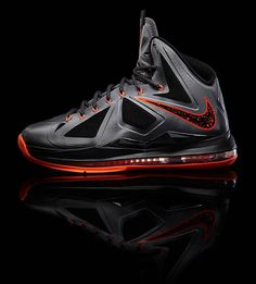 "Nike LeBron X ""Lava"" - Official Images 
