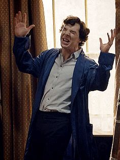 CONTROL YOUR HANDS, SHERLOCK. He's not at all flamboyant, hehe