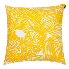 Fodera per cuscino Kurjenpolvi, gialla