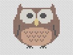 owl cross stitch chart: Ook leuk met strijkkralen!