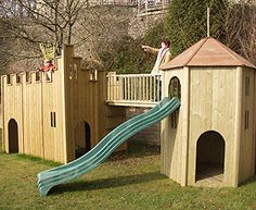 Wooden Castle & Tower Playset
