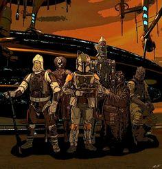Star Wars Bounty Hunters; Dengar, 4-Lom, Boba Fett,  IG-88 and Bossk!