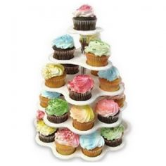 $6.92 New Party Cupcake Stand 5 Tier Tree Holders Muffin Serving Birthday Cake with 27 Cups