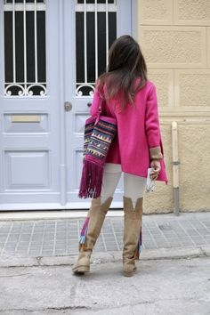 http://www.theguestgirl.com/2016/11/pink-casual-outfit-ruga/ #pink #rüga #outfit #look #casual #style #ambassador #brand #denim #nude #boho #chic #pinkcardigan #casual #streetsyle #ootd #fashion #theguestgirl #pinkbag #best #today #tonight #whatiwear #chic #laurasantolaria #santolaria #laura #influencer #barcelona #bcn #2017 #best