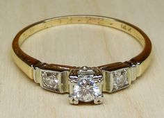 Antique .20ct Transitional Cut Diamond 14k by DiamondAddiction