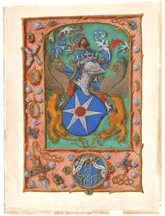 Manuscript Leaf with Coat of Arms, from a Book of Hours, ca. 1500