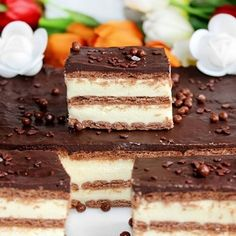 CIASTO MILKY WAY BEZ PIECZENIA Milky Way Cake, Polish Recipes, Polish Food, Sweet Recipes, Tiramisu, Food Porn, Food And Drink, Menu, Cooking Recipes