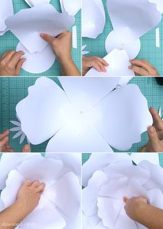 Paper roses have a uniquely creative look and they do not die! This giant paper flowers DIY includes a free template and step-by-step tutorial.