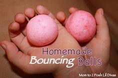 Have some hands-on science fun making your own homemade bouncing balls! It would be cool to do this in green and red for the winter party...