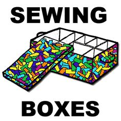 Sewing or other type box to make with kids - fun project and good idea...