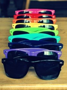 Rainbow ray bans!