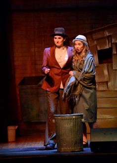 Annie the musical Hooverville-beatup metal trash cans!