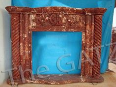 thegatz - Marvelous Marble Fireplace Mantel with Twisted Column Carvings, Red Marble, $3,600.00 (http://www.thegatz.com/marvelous-marble-fireplace-mantel-with-twisted-column-carvings-red-marble/)