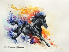 """""""Il surgit"""" 30,5x23cm / aquarelle """"He appears"""" 30,5x23cm / watercolor"""