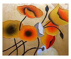 Dipinto a mano su tela Corolle Preziose - 50x60 cm