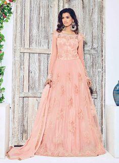 #Pastel #Peach #Indian #Ethnic #Beautiful #Fashionable