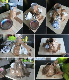 Diy volcán casero para el cole | Decorar en familia | DEF Deco Volcano Science Projects, Science Projects For Kids, Science Experiments Kids, Science For Kids, School Projects, Toddler Activities, Preschool Activities, Rainforest Activities, Volcano Activities