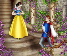 Snow White & Prince Florian by Mareishon First Disney Princess, Cinderella Prince, Disney Princess Snow White, Princess Party, Snow White 1937, Snow White Prince, Images Disney, Disney Pictures, Disney On Ice